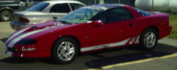 Side Flag Camaro Graphics